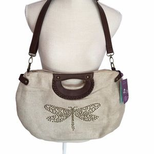 """Nica """"Etta"""" Washed Gold Butterfly Bag NWT"""